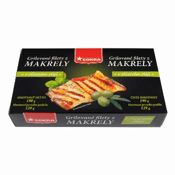 Grilované filety z makrely v olivovém oleji 190g SOKRA