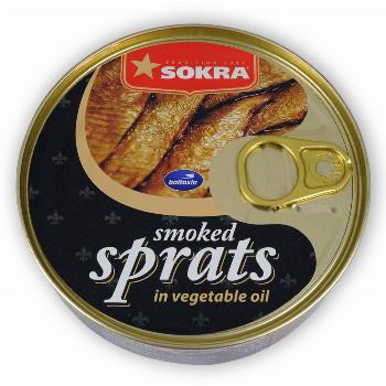 Uzené šproty v rostlinném oleji 160g SOKRA